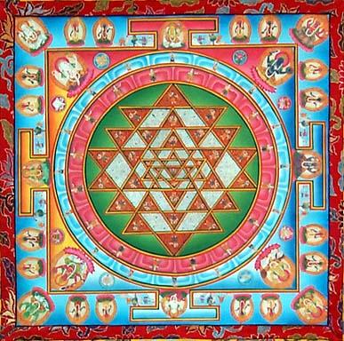 Slikovni rezultat za sri yantra tibet